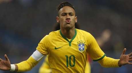 Neymar fez o gol da virada da Seleção Brasileira
