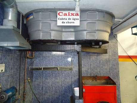 Oficina conta hoje com um reservatório que armazena 15 mil litros de água