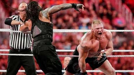 <p>Carrancudo Brock Lesnar é amado pelos fãs da WWE</p>