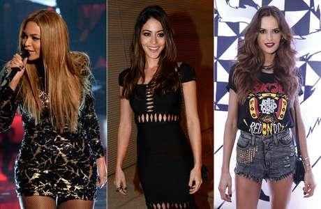 Beyoncé, Carol Castro e a modelo Izabel Goulart apostaram no preto básico e acertaram!