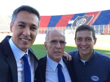 Nivaldo Prieto, Mário Sérgio e Rodrigo Caetano comandam a transmissão de San Lorenzo x São Paulo