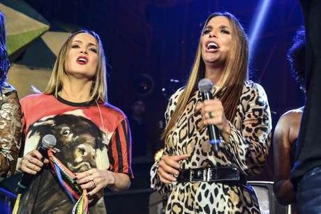 Claudia Leitte e Ivete soltaram a voz