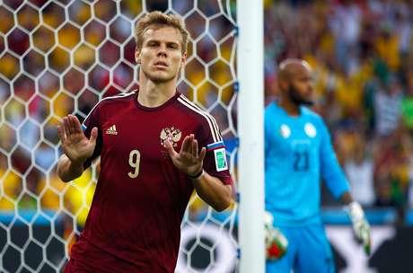 Aleksander Kokorin foi o camisa 9 da seleção russa na Copa do Mundo de 2014