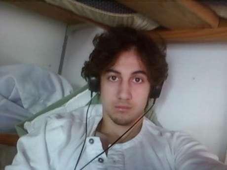 Dzhokhar Tsarnaev em foto divulgada pela promotoria em Boston, nos Estados Unidos, em março. 23/03/2015