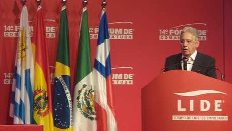 O ex-presidente foi a grande 'estrela' do Fórum de Comandatuba, evento que reúne políticos e empresários em um resort de luxo no sul da Bahia