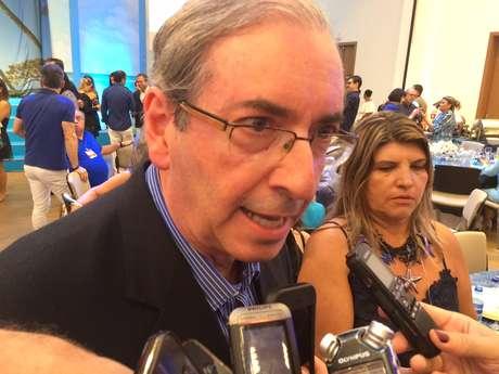 Cunha foi um dos políticos mais tietados em fórum com políticos e empresários em Comandatuba, na Bahia, neste fim de semana