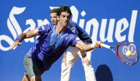 Thomaz Bellucci não foi páreo para Bautista Agut e caiu na segunda rodada do ATP de Barcelona