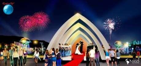 Capela será construída na Cidade do Rock para celebrar sete casamentos durante o festival