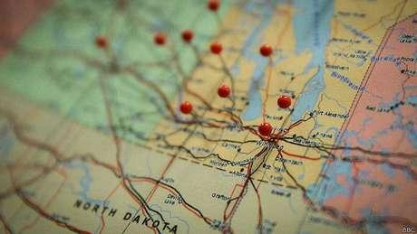 Mapa no escritório de investigação: ainda é difícil encontrar informações para solucionar os casos