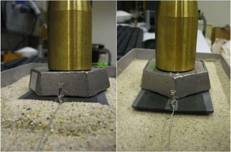 Em um teste realizado em laboratório, os cientistas observaram que a areia seca cria barreiras em frente aos objetos transportados