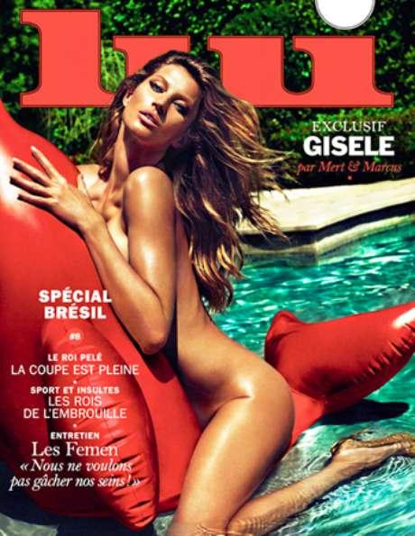 Em maio de 2014 a top posou nua em uma piscina para a capa da revista Lui