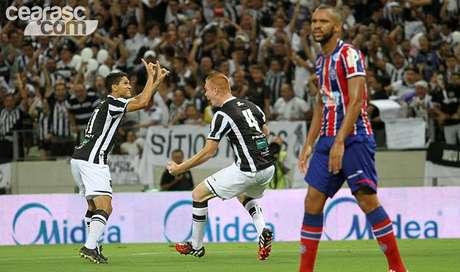 Ceará fez 2 a 1 sobre o Bahia e conquistou a Copa do Nordeste pela primeira vez