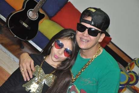 Melody e o pai, Thiago Abreu, também conhecido como MC Belinho