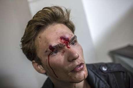 Manifestante ferido foi atendido em um hospital municipal