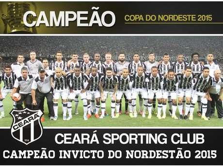 Pôster do Ceará campeão invicto da Copa do Nordeste 2015