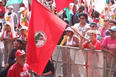 Ato da CUT em comemoração do Dia do Trabalhador em São Paulo