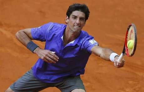 Thomaz Bellucci em ação durante Masters de Madri: recuperação em jogo complicado em Roma