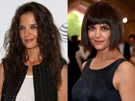 Transformação: Katie Holmes radicaliza e exibe novo corte de cabelo no baile de gala do MET