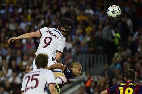 Lewandowski perdeu melhor chance do jogo para o Bayern de Munique