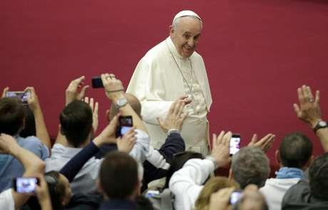 Papa Francisco durante audiência no Vaticano: fã de futebol, mas também de outros esportes