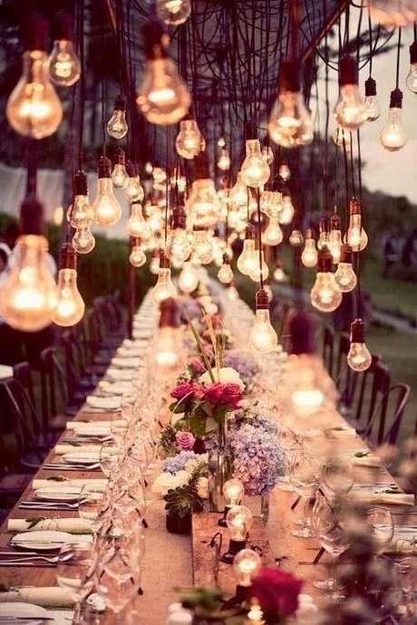Decoración para la boda: ideas hermosas con colgantes para la fiesta