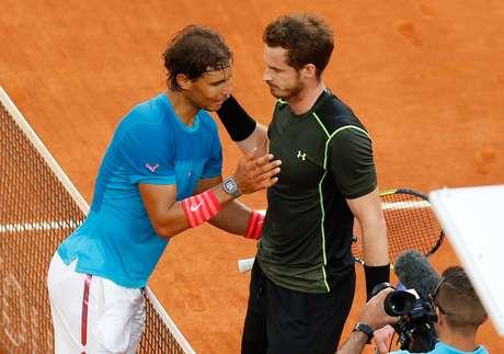 Nadal não foi páreo para Andy Murray, mesmo no saibro