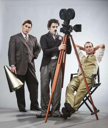 """Paulo Goulart Filho, Jarbas Homem de Mello e Marcello Antony dividem o palco em """"Chaplin, o musical"""""""