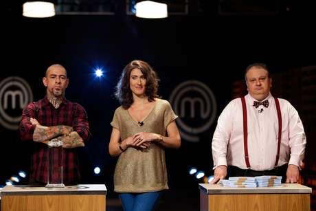 Trio de jurados Henrique Fogaça, Paola Carosella e Erick Jacquin