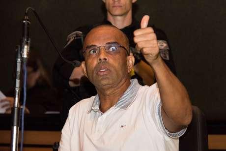 Fernandinho Beira-Mar, durante julgamento no Rio de Janeiro
