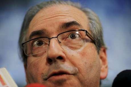 Presidente da Câmara dos Deputados, Eduardo Cunha, durante entrevista em Brasília, em 12 de maio