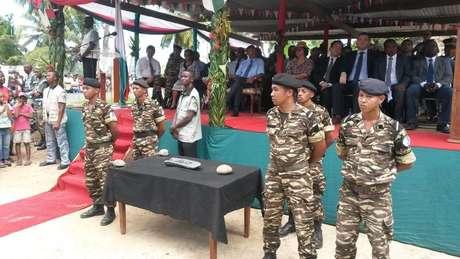 Objeto foi apresentado em uma cerimônia oficial com a presença de diplomatas do país
