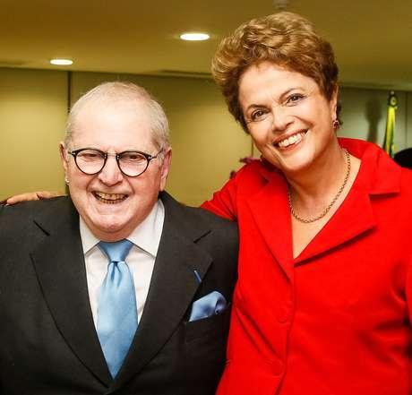 Presidente Dilma se encontrou nessa segunda-feira, no Palácio do Planalto, com o apresentador Jô Soares