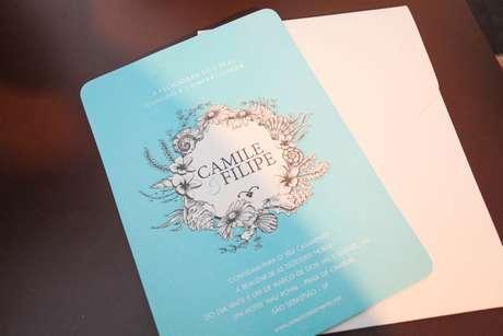 Desenho exclusivo traduz clima do casamento e personalidade dos noivos