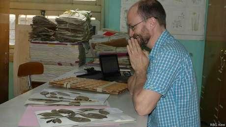 Aaron Davis, do instituto de pesquisa Kew: ele busca impedir a extinção do café arábica