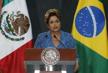Presidente Dilma Rousseff em discurso na Cidade do México nesta terça-feira. 26/05/2015