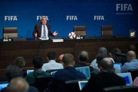 De Gregorio convocou a imprensa para revelar o posicionamento da Fifa