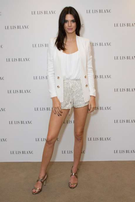 Kendall Jenner, uma das irmãs Kardashian, está em São Paulo para lançar coleção