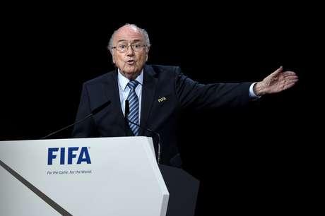 Joseph Blatter fez discurso na abertura do 65º Congresso da Fifa