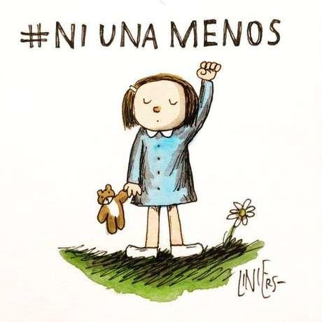Marchas contra el femicidio se harán en todo el país el 3 de junio. Este es el aporte del dibujante Liniers para #Ni Una Menos.