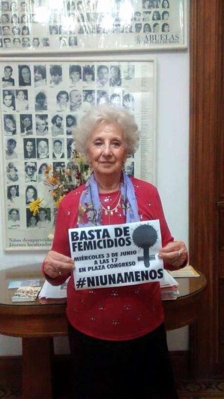Marchas contra el femicidio se harán en todo el país el 3 de junio. Este es el aporte de Estela de Carlotto para #Ni Una Menos.