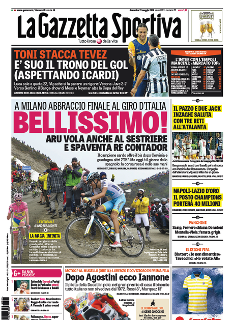 Italianos deram mais atenção para ciclismo de estrada