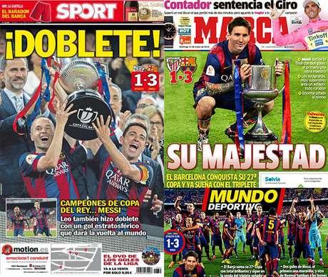 """Espanhóis destacaram """"doblete"""" do Barça"""