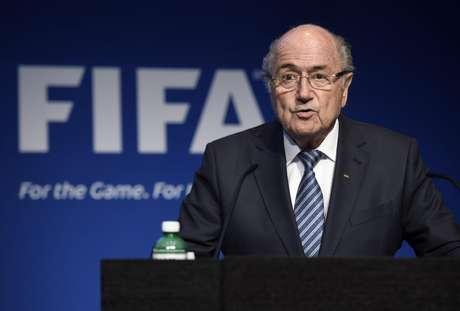 Joseph Blatter anunciou renúncia em pronunciamento na sede da Fifa