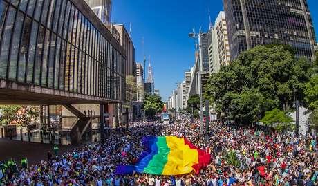 Imagem de arquivo da Parada do Orgulho LGBT de 2014