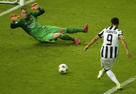 Morata completa para o gol e empata para a Juventus