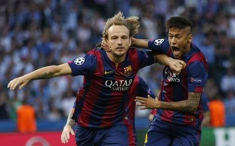 Rakitic e Neymar também foram às redes pelo Barcelona