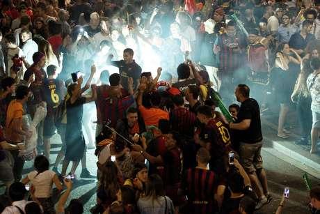 Final da Champions foi em Berlim, mas a maior festa aconteceu em Barcelona