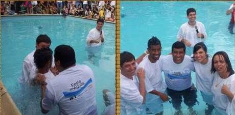 Léo Moura foi batizado na Igreja Evangélica em 2012