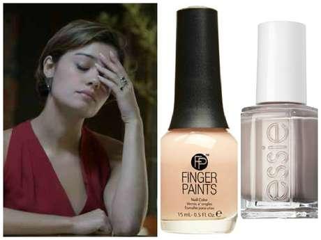 Em quarto lugar, o esmalte nude da Alice (Sophie Charlotte), de 'Babilônia'. É uma combinação do Natural Talent, da Finger Paints (marca que não é vendida no Brasil), com o Topless and Barefoot (744), da Essie (Preço: R$ 34; Informações: 0800-2001101)