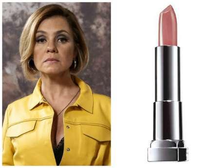 Inês (Adriana Esteves), de 'Babilônia', agradou com tom nude nos lábios. É o batom Maybelline Color Sensational, cor To Bege. Preço: R$ 24,90. Informações: 0800-7010114